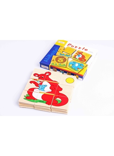 Ahşap 4'lü Alibei Bulmaca Seti-Learning Toys